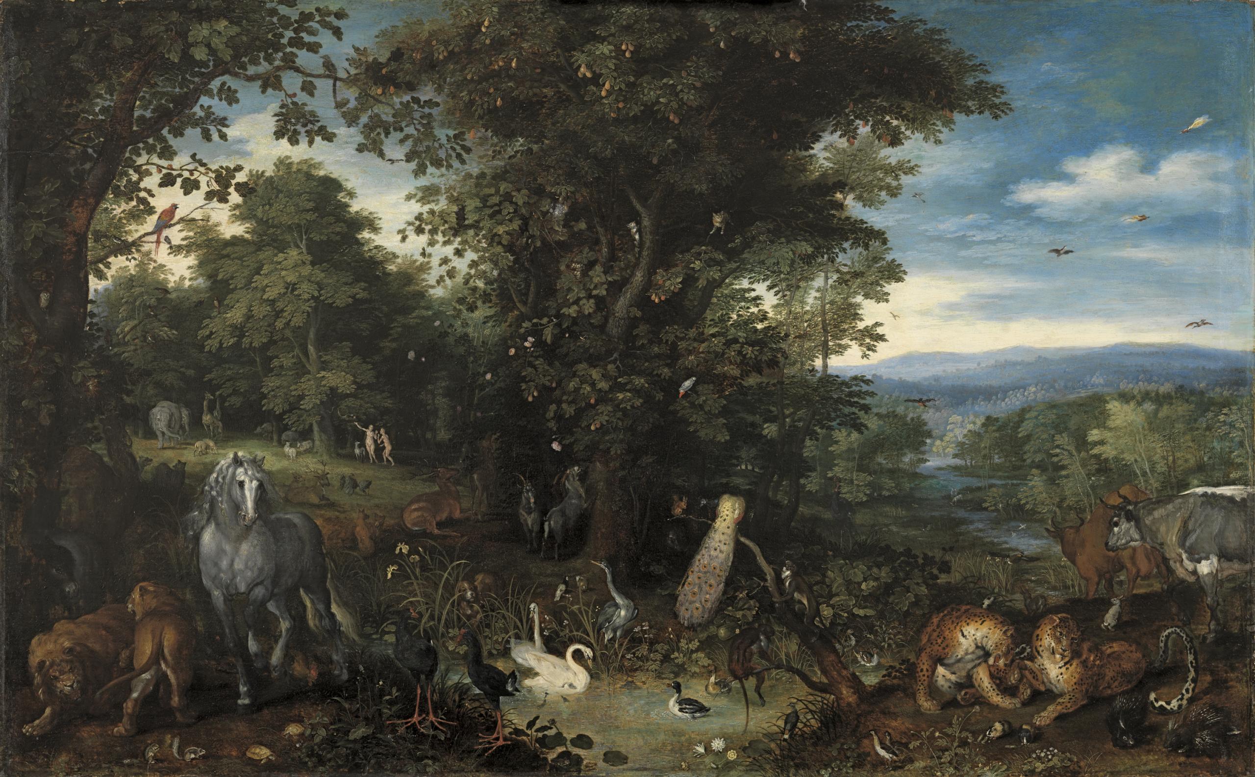 BRUEGHEL, Jan El Viejo_El Jardín del Edén, c.1610-1612 _(CTB.1988.29)